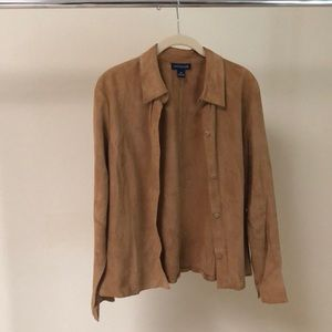 Ann Taylor suede shirt jacket